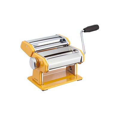 KitchenCraft World of Flavours Yellow Stainless Steel Pasta Maker