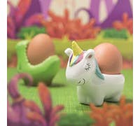 KitchenCraft Ceramic Unicorn-Shaped Novelty Egg Cup